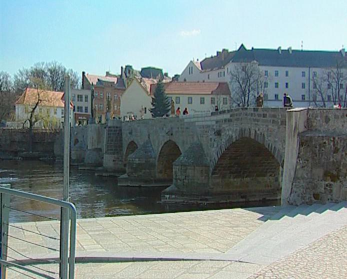 Historický most v Písku