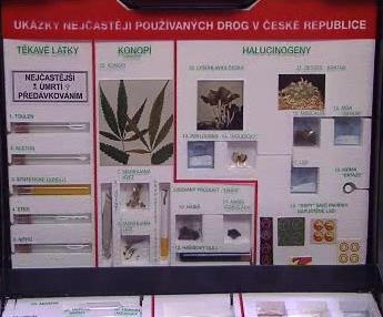 Přehled nejpoužívanějších drog v ČR