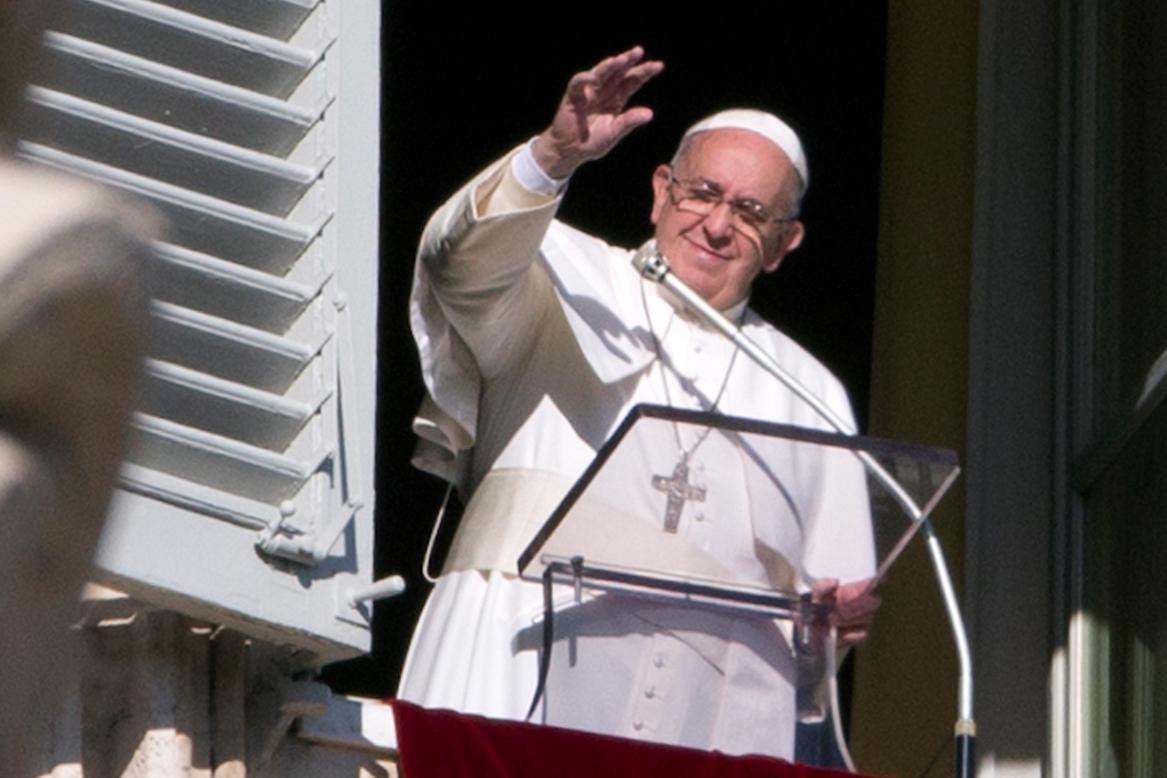 Papež František při mši za mír na Nový rok 2015