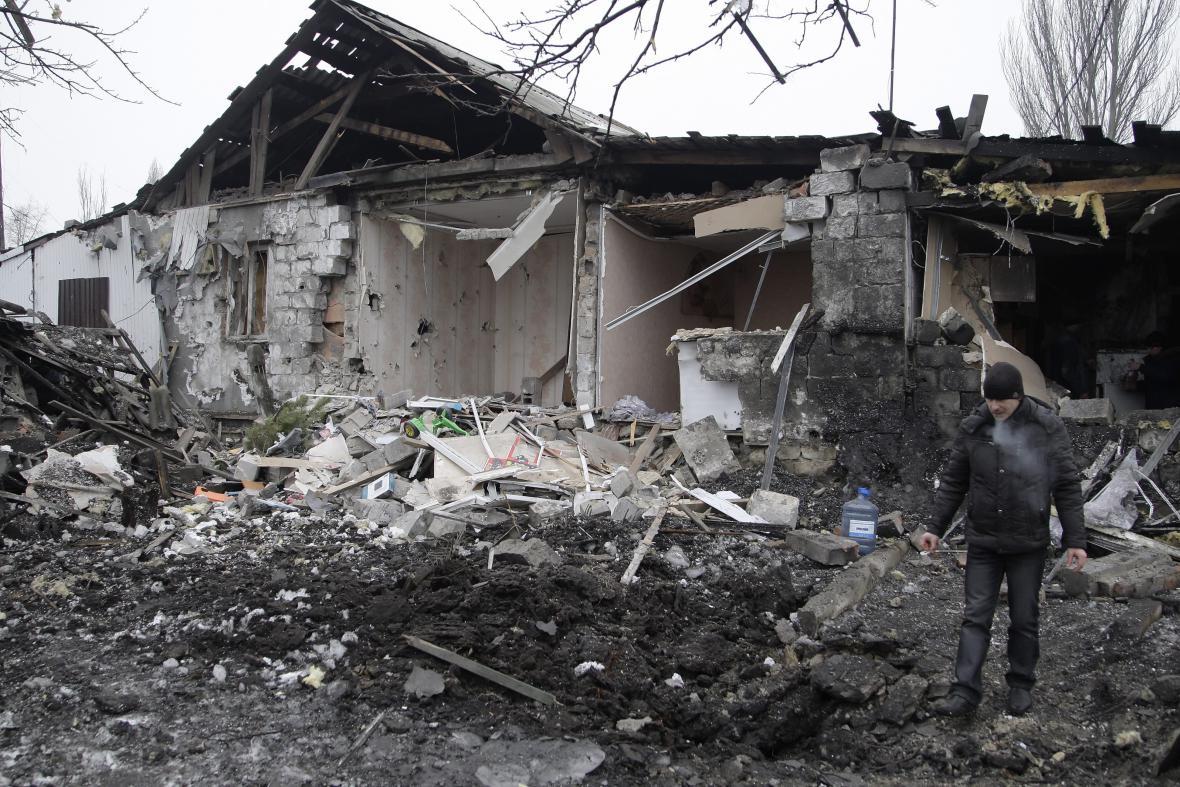 Zničený Doněck