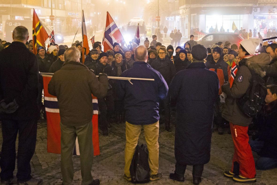 Demonstrace Pegidy v Oslu