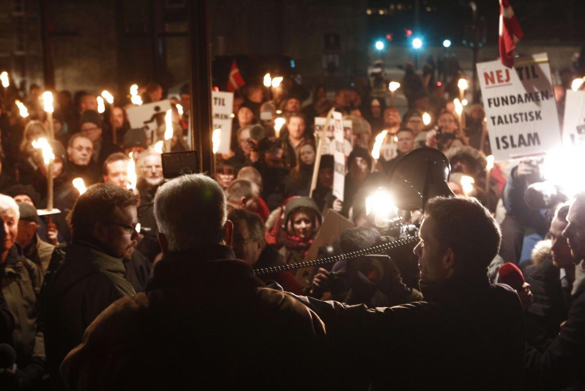 Demonstrace Pegidy v Kodani