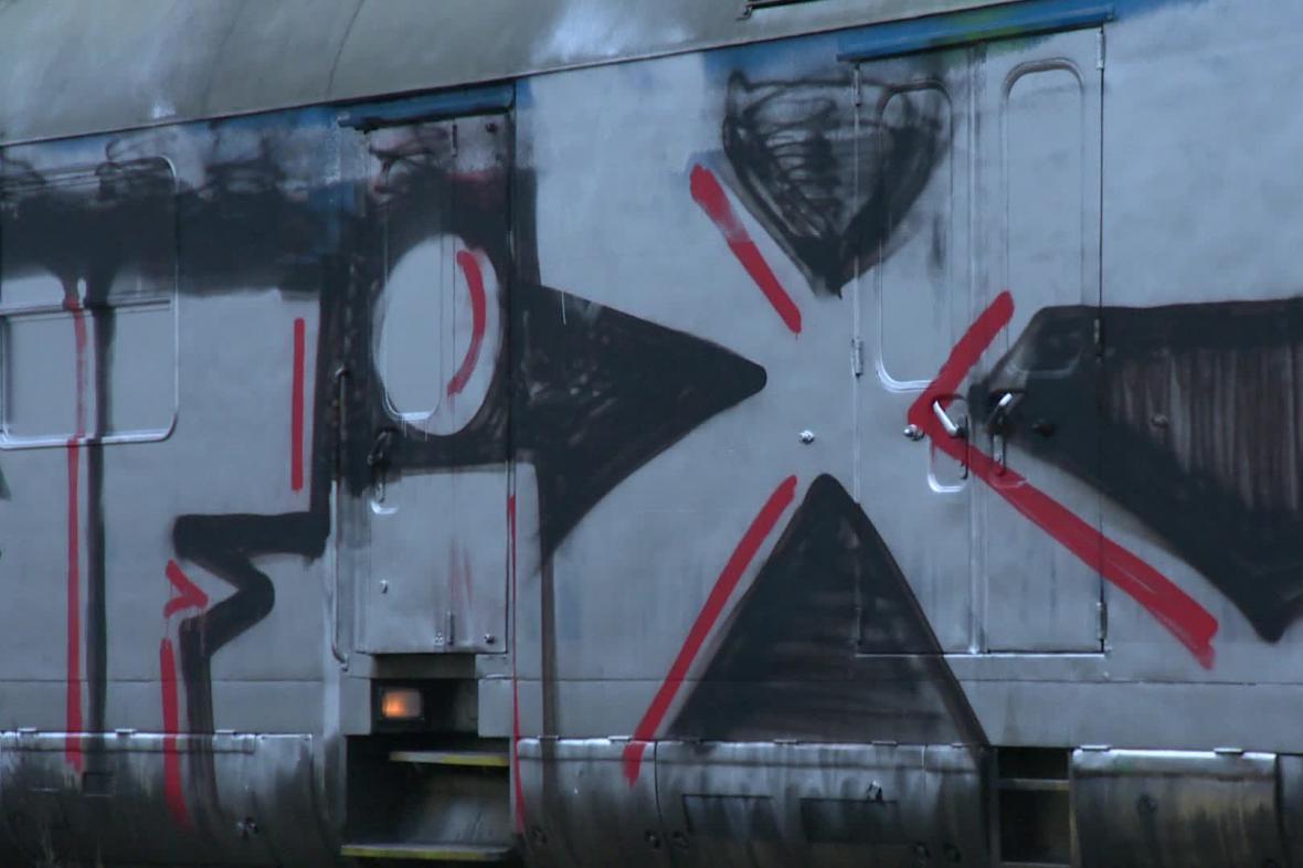 Posprejovaný vlak