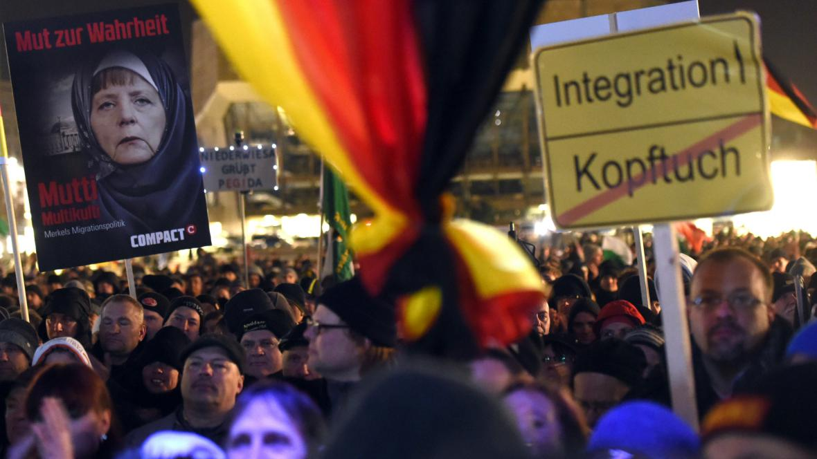Demonstrace hnutí Legida