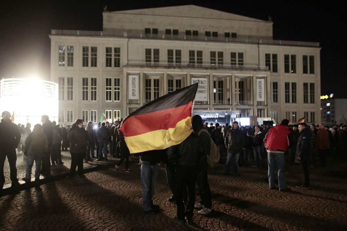 Očekávaná stotisícová účast se v Lipsku nenaplnila