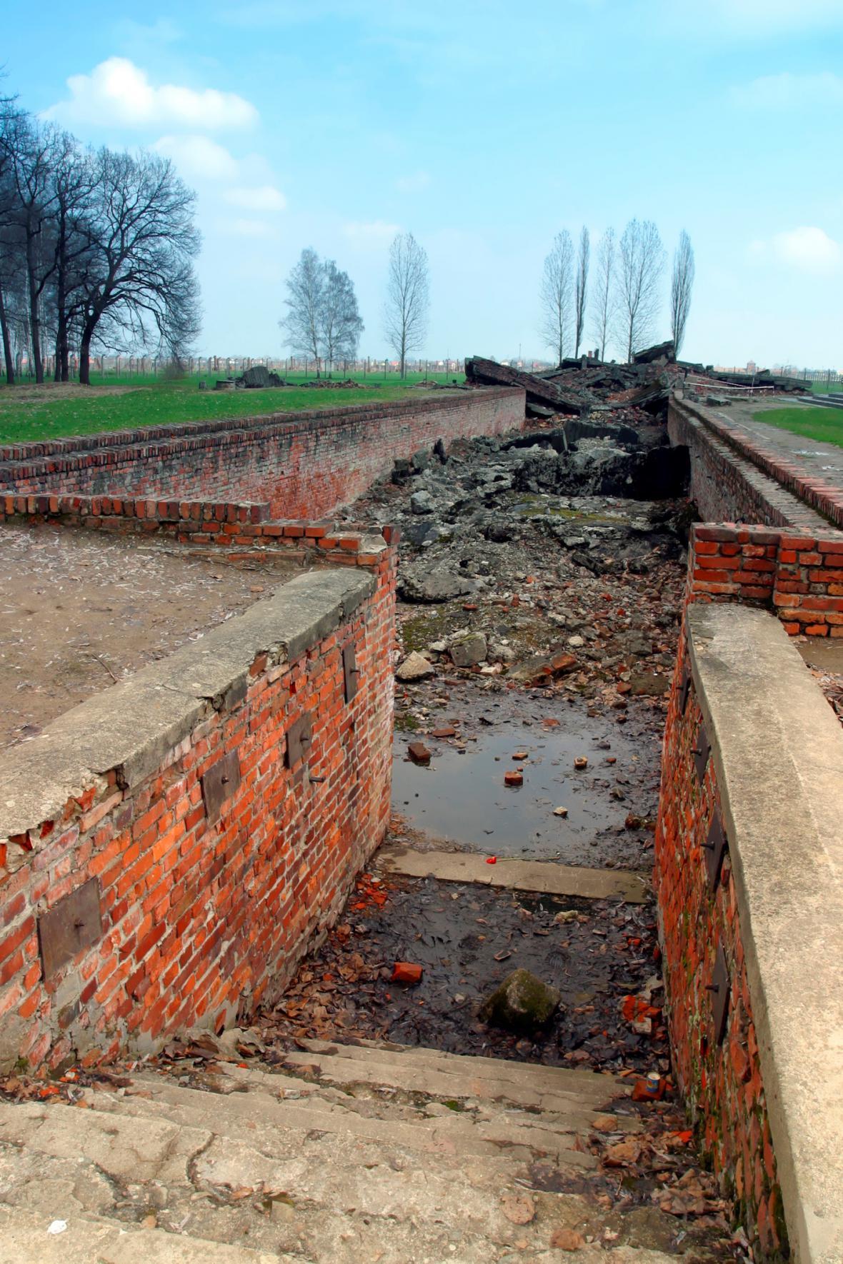 Torzo plynové komory ve vyhlazovacím táboře Auschwitz II. - Birkenau