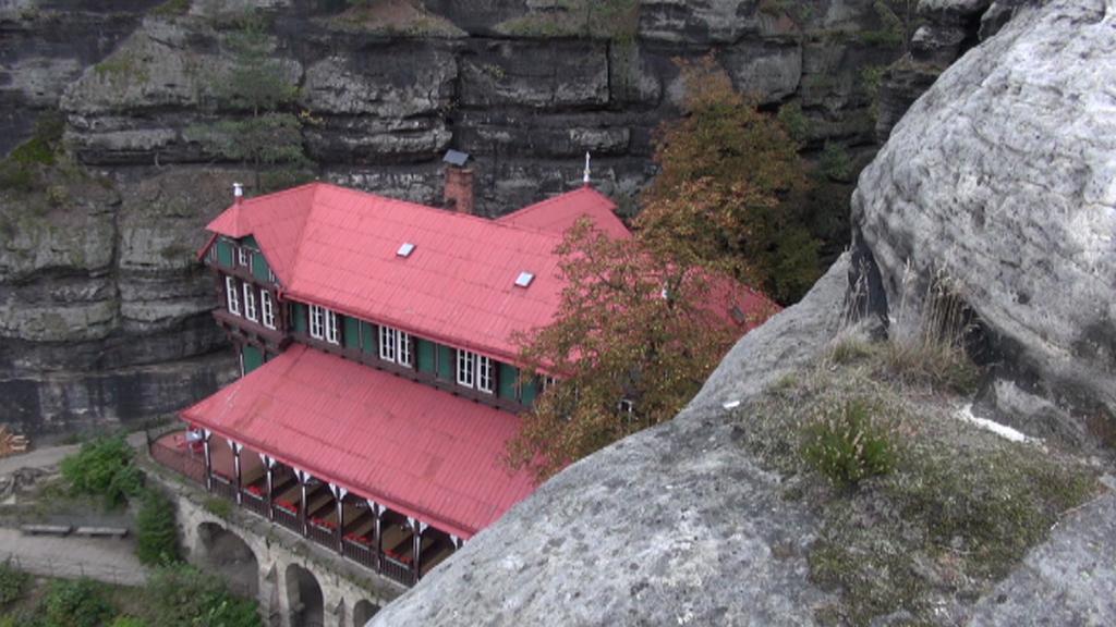 Pohled z Pravčické brány