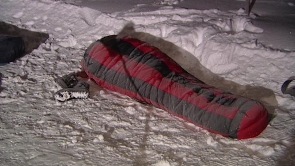 Archivní záběr - bivak na sněhu