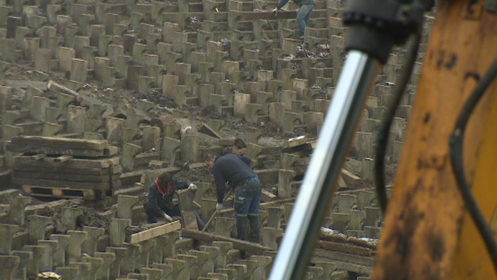 Oprava amfiteátru na Lochotíně