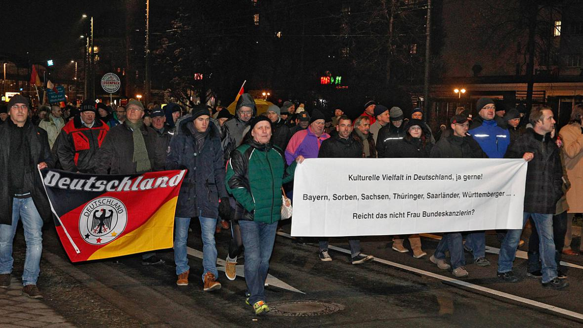 Účast na demonstraci Legidy byla menší, než se předpokládalo