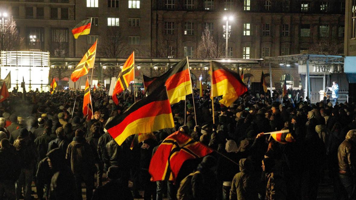 Demonstrace Legidy v Lipsku