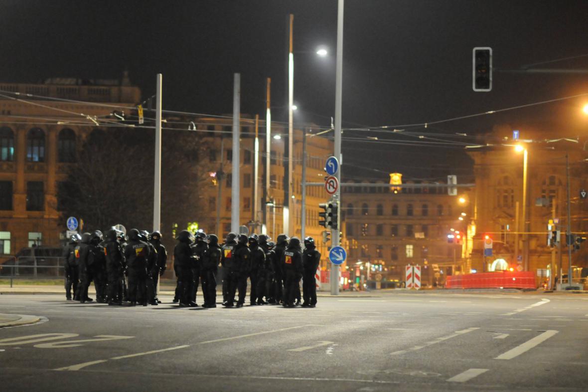 Na demonstraci Legidy v Lipsku dohlížely tisíce policistů