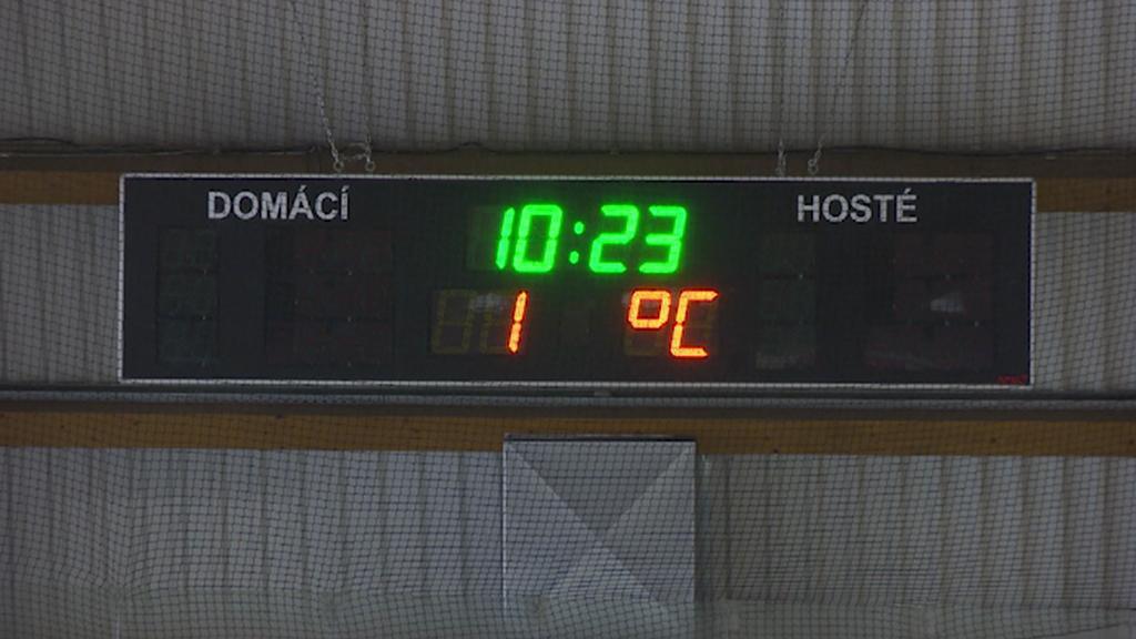 Teplota na stadionu v Jičíně