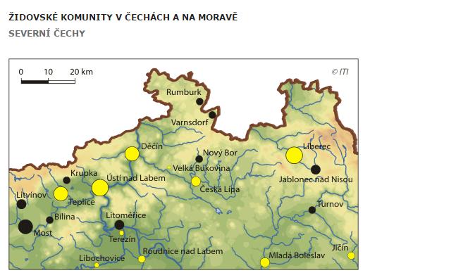 Židovské komunity na severu Čech
