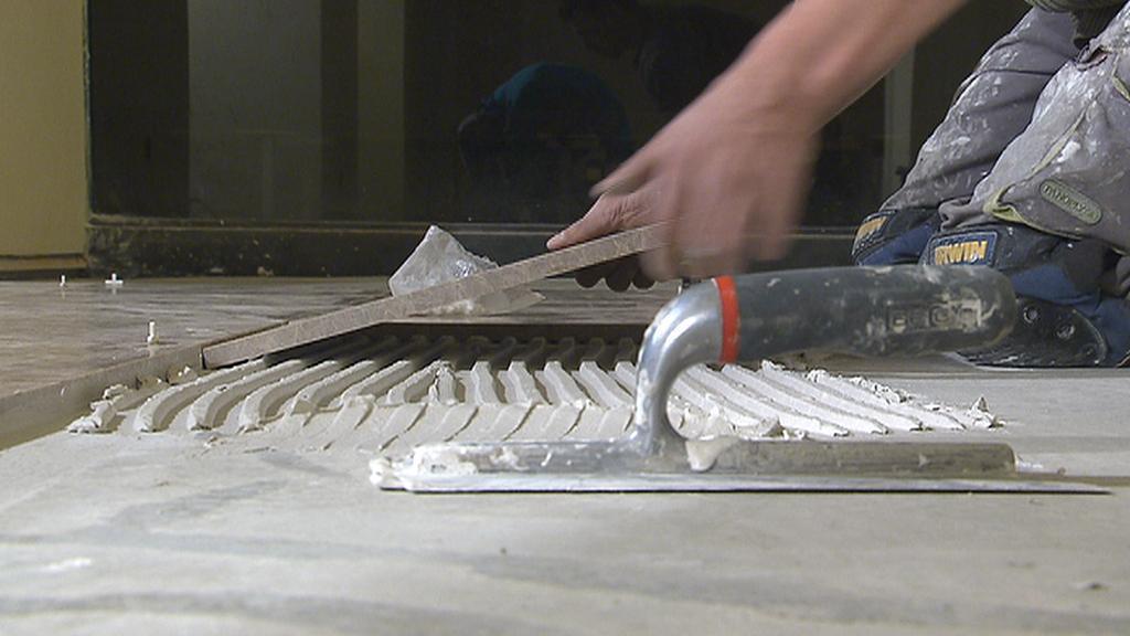 Oprava podlahy synagogy