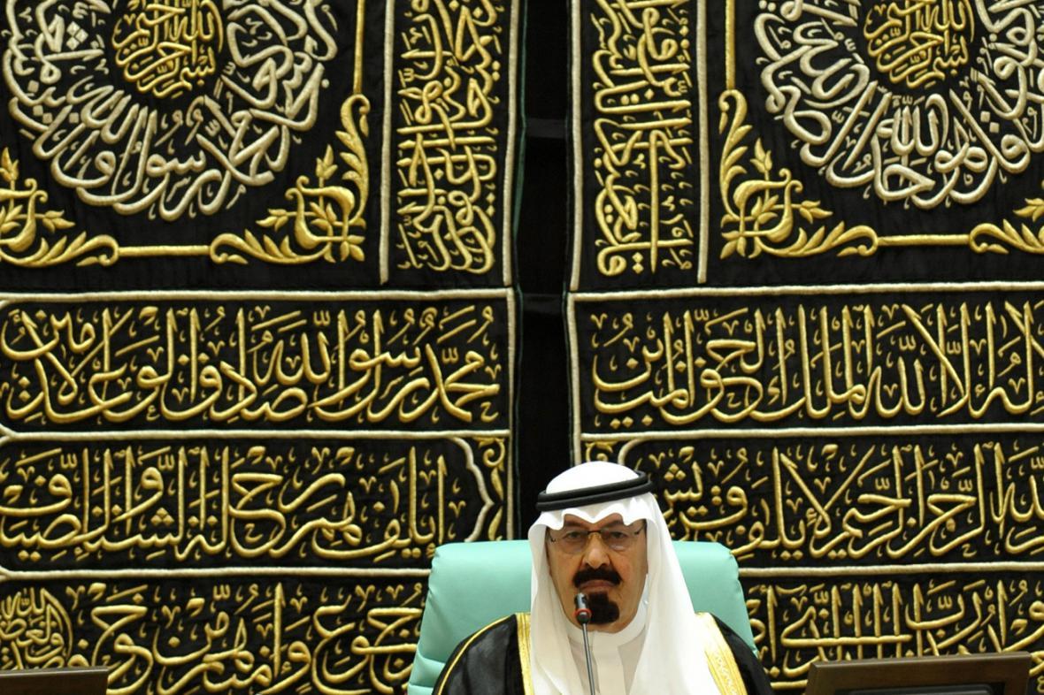 Saúdský král Abdalláh