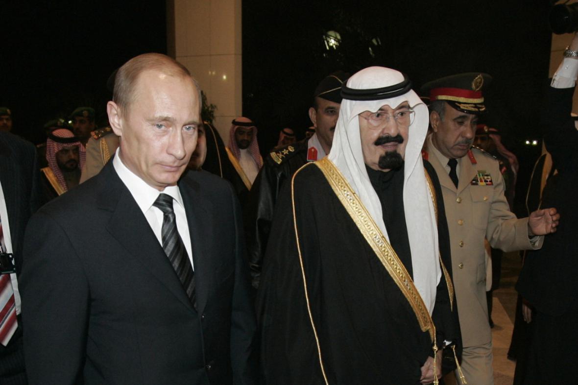 Vladimir Putin a král Abdalláh