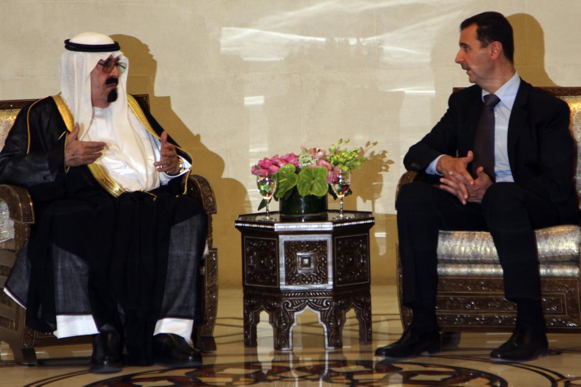 Král Abdalláh a Bašár Asad