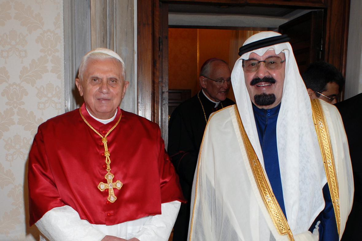 Benedikt XVI. a král Abdalláh