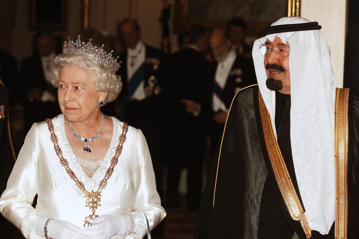 Královna Alžběta II. a král Abdalláh