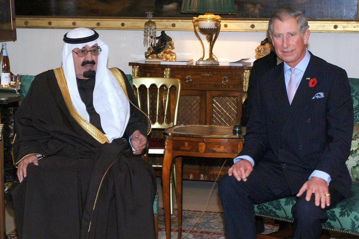 Král Abdalláh a princ Charles
