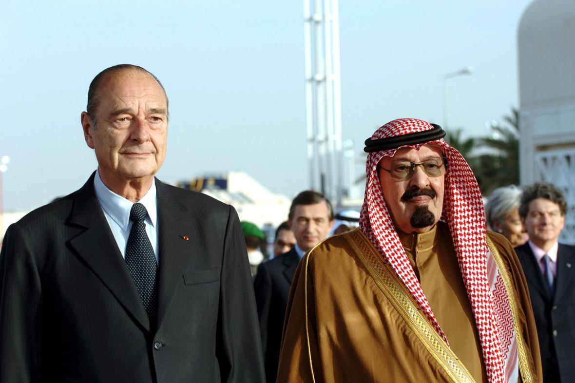 Jacques Chirac a král Abdalláh