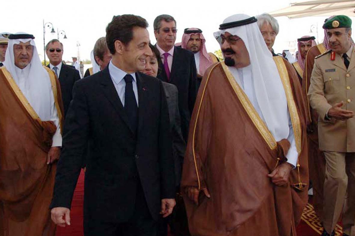 Nicolas Sarkozy a král Abdalláh