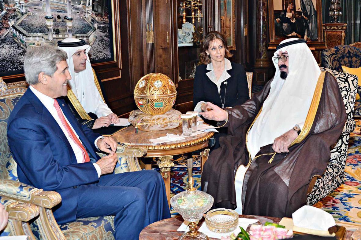 John Kerry a král Abdalláh
