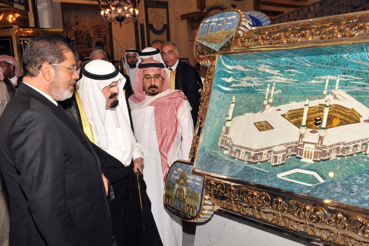 Muhammad Mursí a král Abdalláh
