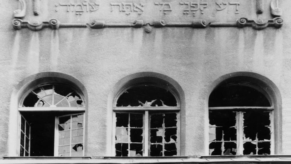 Jedna z německých synagog po křišťálové noci