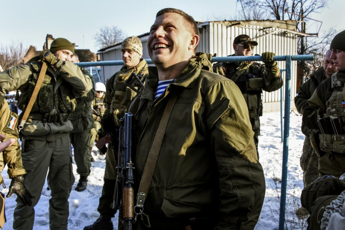 Prezident samozvané Doněcké lidové republiky Alexandr Zacharčenko