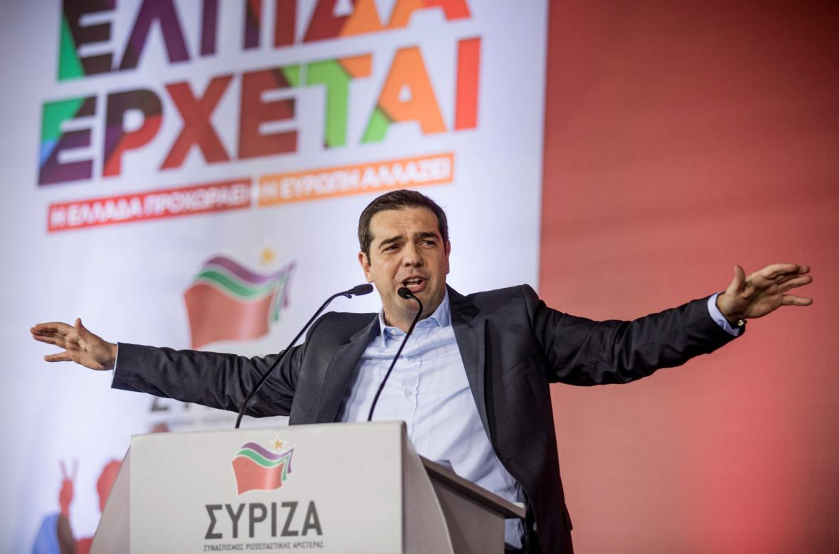 Kampaň SYRIZY - lídr Alexis Tsipras