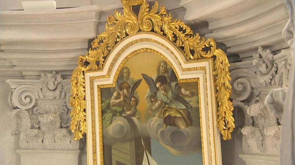 Obraz v chrámu Nalezení sv. Kříže v Litomyšli