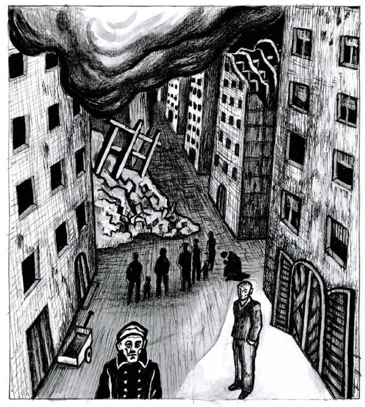 Z ilustrací Jaroslava Róny k Orwellově 1984