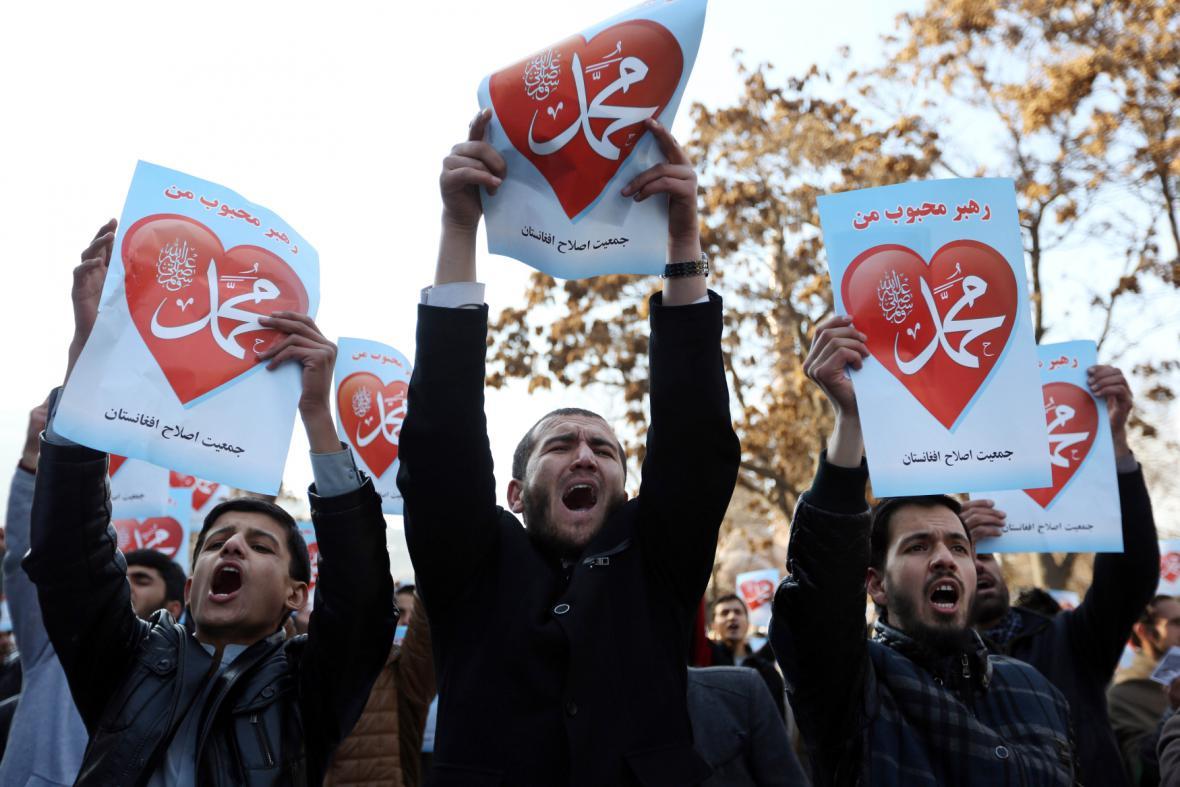 Demonstrace proti Charlie Hebdo v Afghánistánu