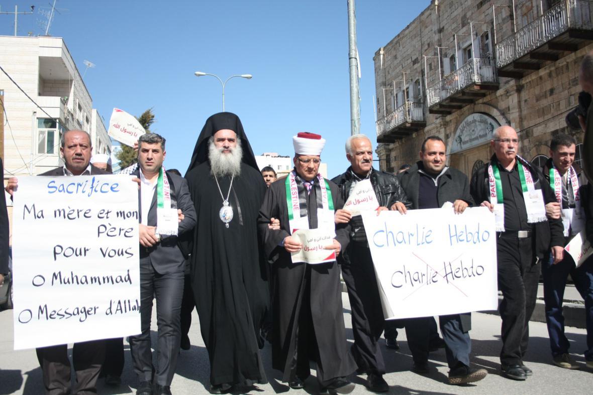 Demonstrace proti Charlie Hebdo v Izraeli