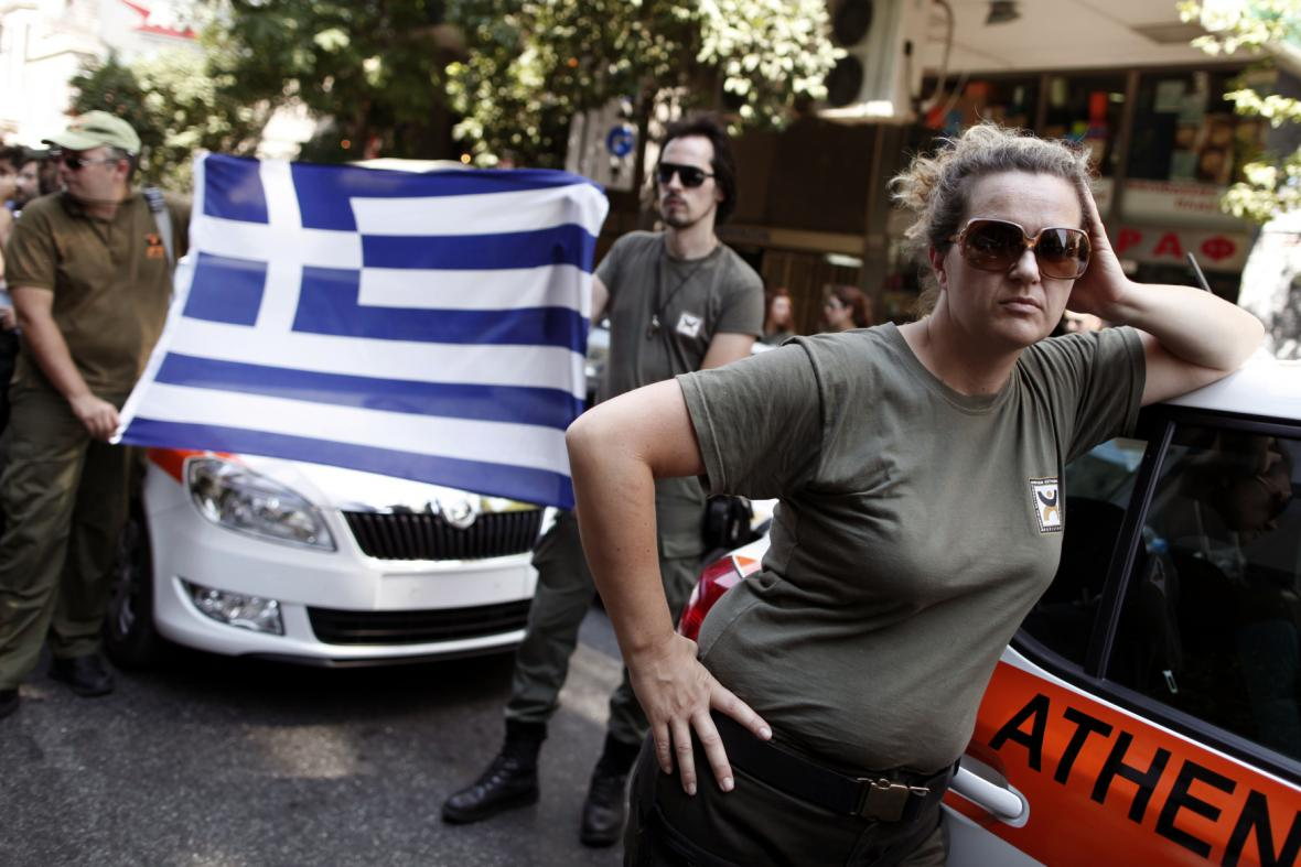 Stávka městské policie v Aténách
