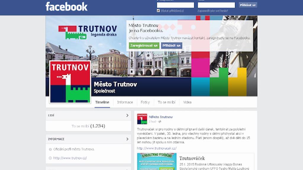 Profil Trutnova na Facebooku