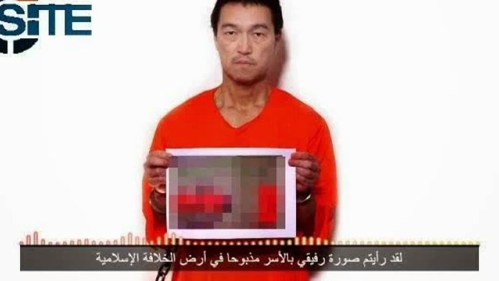 Snímek z videa údajně dokazující vraždu jednoho z japonských rukojmích