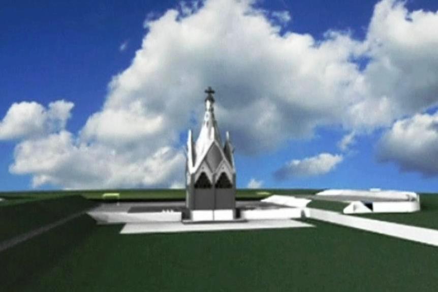 Gaudího projekt mariánské kaple pro Chile