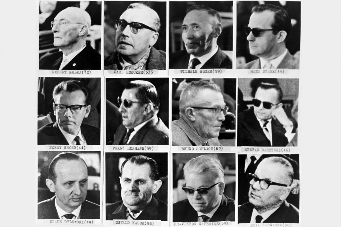 Dvanáct obžalovaných z osvětimského procesu