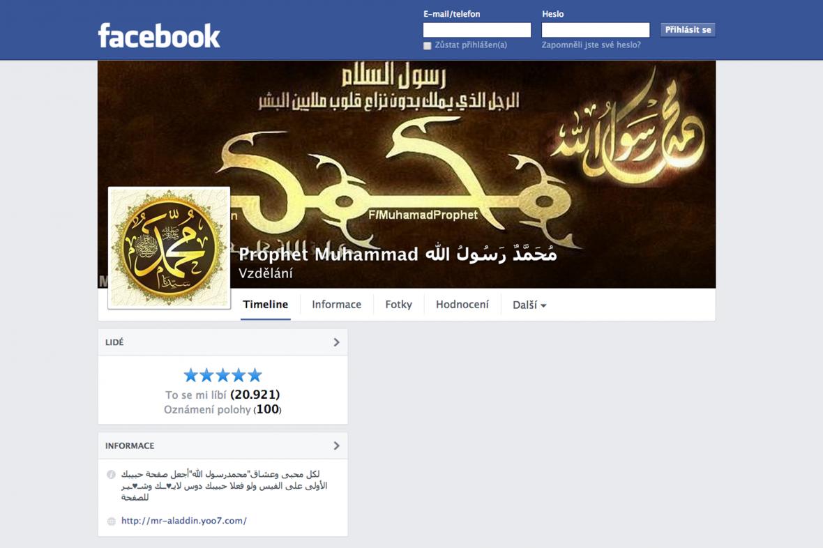 Prorok Mohamed na Facebooku