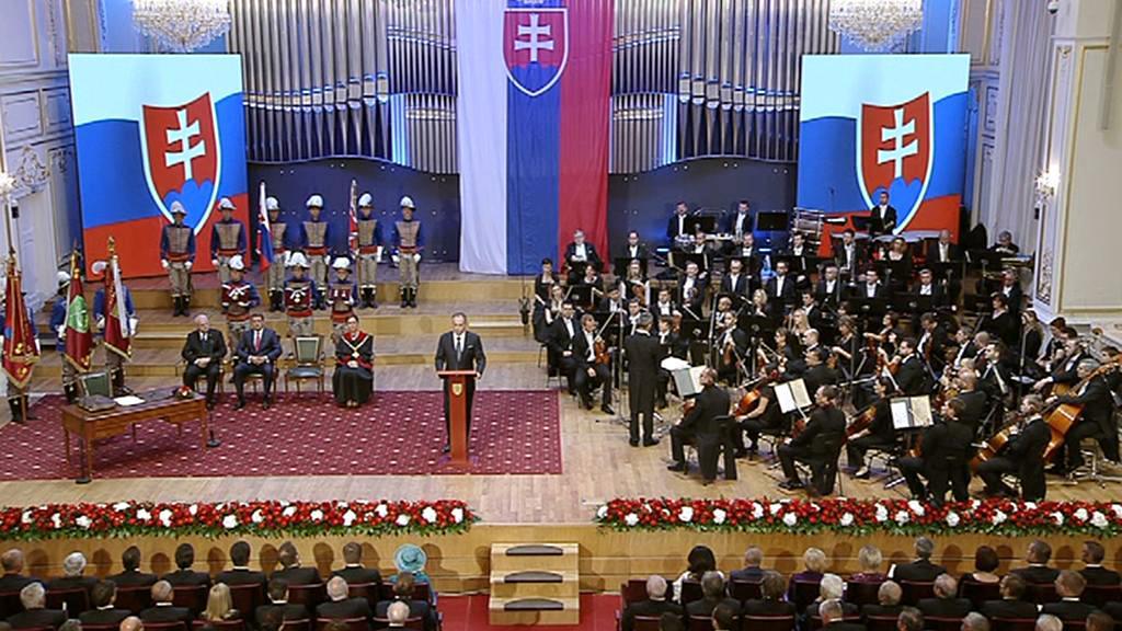 Andrej Kiska při inauguračním projevu