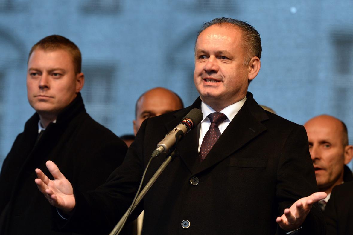 Slovenský prezident Albertově 17. 11. 2014