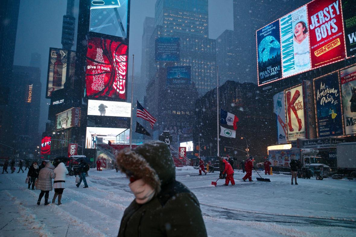 Sněhová bouře Juno v New Yorku