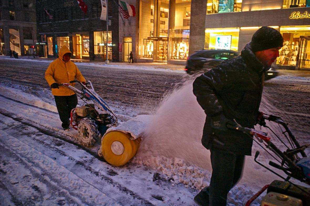 Sněhová bouře Juno v USA