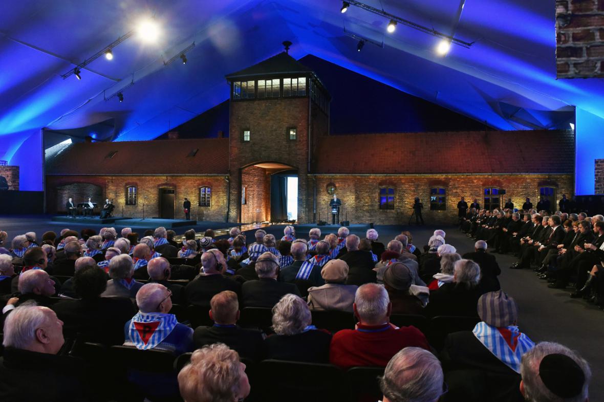 Vzpomínková akce k 70. výročí osvobození tábora v Osvětimi