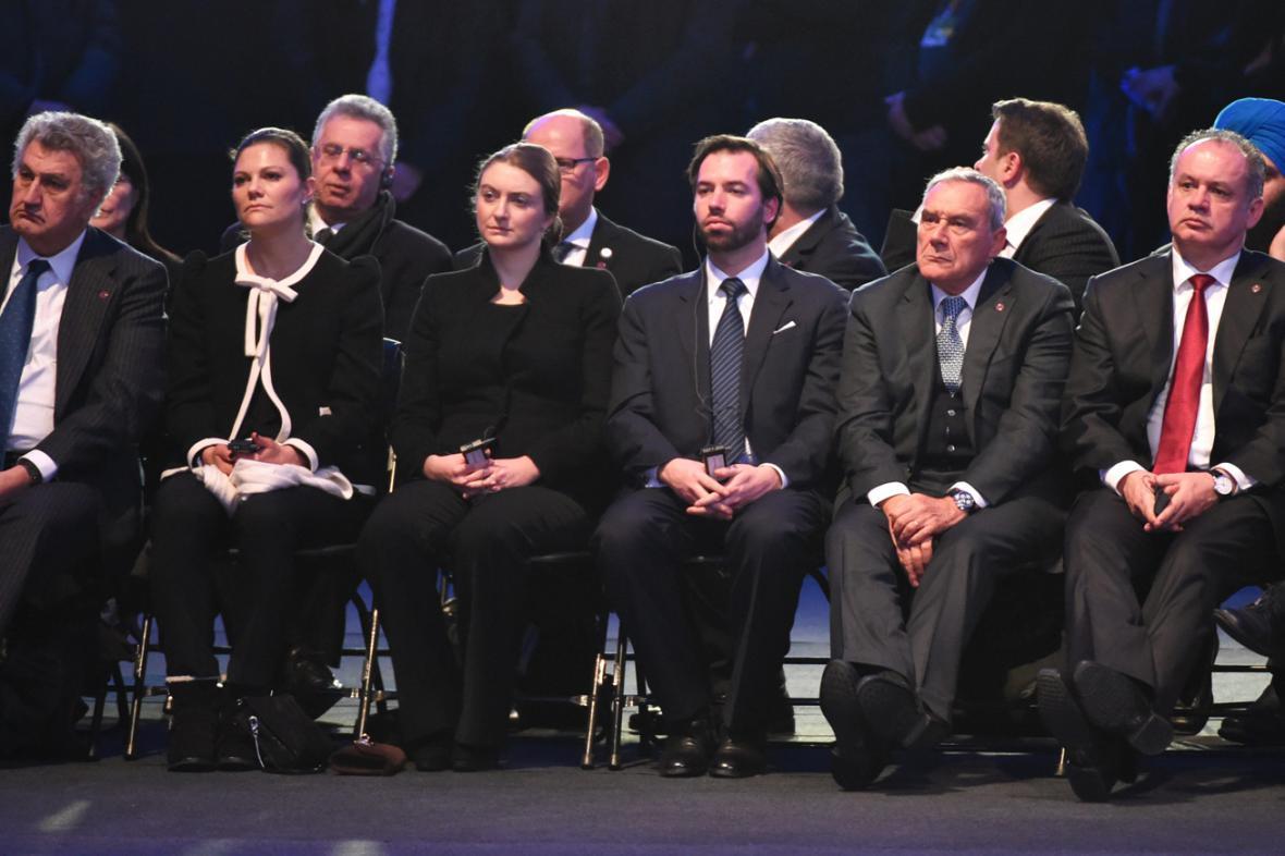 Evropští státníci na pietní akci v Osvětimi