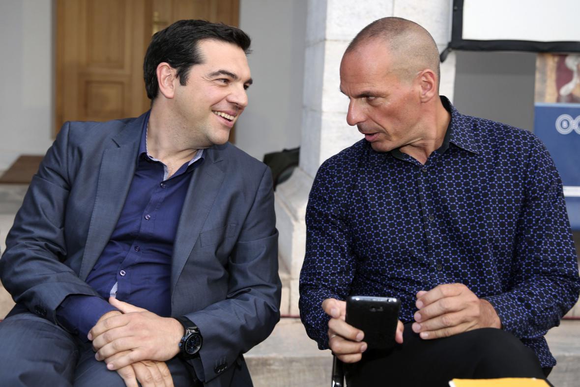 Alexis Tsipras a Janis Varufakis