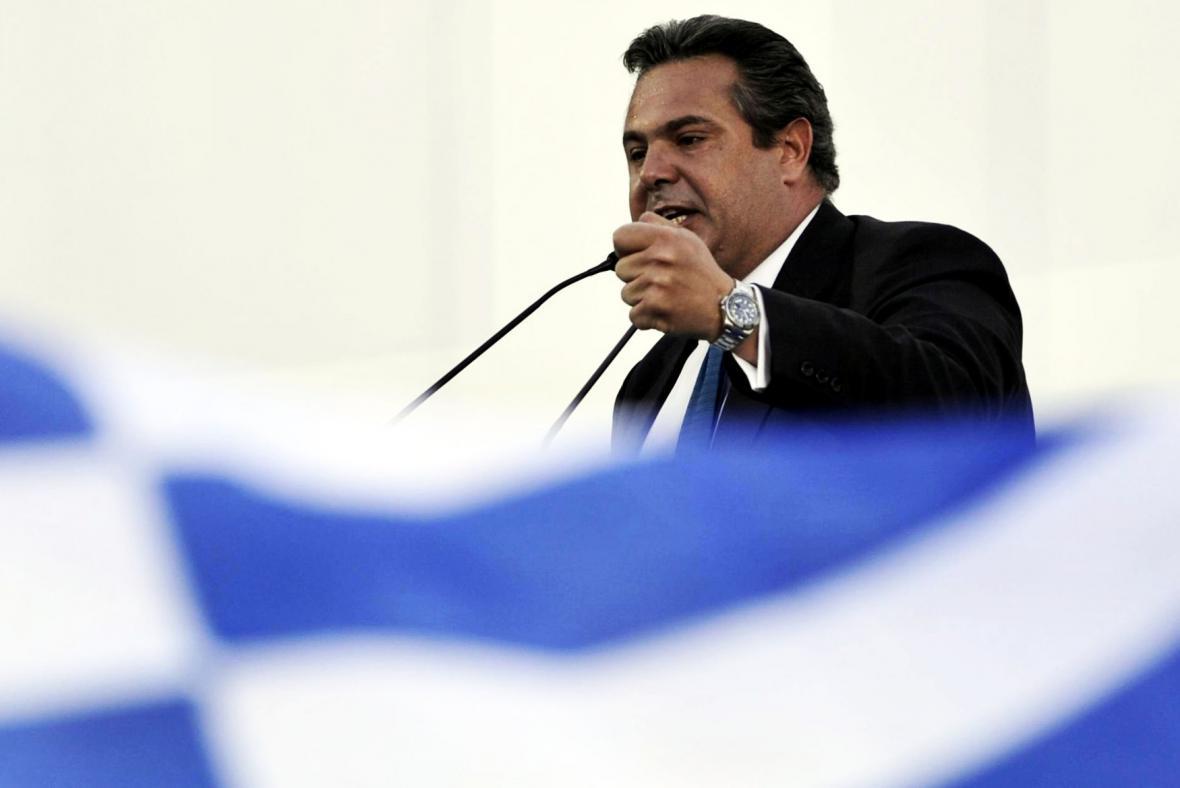 Vůdce Nezávislých Řeků Panos Kammenos